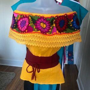Sunflower 🌻 off Shoulder Embroidered Blouse